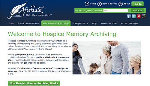 AfterTalk Hospice Memory